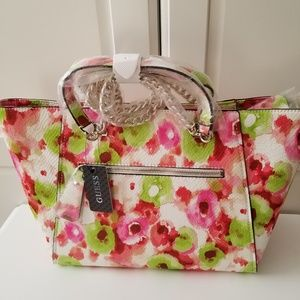 855a4ed2d4 Guess Bags - Guess women s Nikki chain tote bag